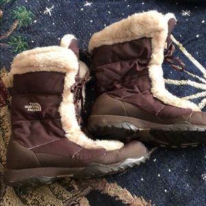North Face Brown Snow Boots Waterproof size 8.5